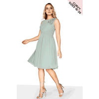 Little Mistress Curvy Waterlily Prom Dress size: 20 UK, colour: Waterl