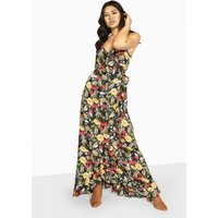 Outlet Girls On Film Moore Strappy Maxi Dress size: 6 UK, colour: Mult