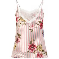 Primavera Floral Stripe Cami Top size: L, colour: Pink