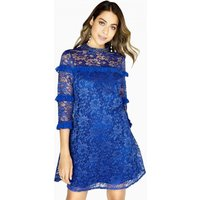 Image of Outlet Little Mistress Maria Lace Shift Dress With Frills size: 10 UK,