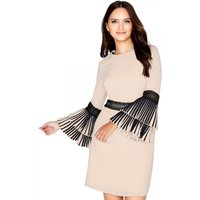 Outlet Little Mistress Beige Shift Dress size: 12 UK, colour: Beige