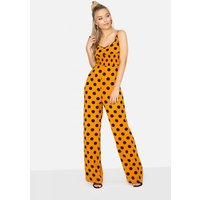 Girls on Film Domino Jumpsuit In Polka Dot size: 14 UK, colour: Print