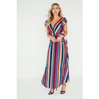 Girls on Film Frieda Bold Stripe Maxi Dress size: ONE SIZE, colour: Pr