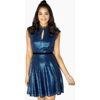 Outlet Little Mistress Tori Sequin And Lace Skater Dress size: 12 UK,