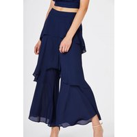Girls on Film Phoenix Layered Culotte Trouser size: 6 UK, colour: Navy