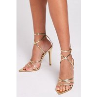 Gold Strappy Stiletto size: Footwear 4 UK, colour: Gold