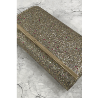 Gold Glitter Metal-Bar Clutch size: ONE SIZE, colour: Gold