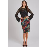 Outlet Paper Dolls Emas Lace And Print Dress size: 12 UK, colour: Mult