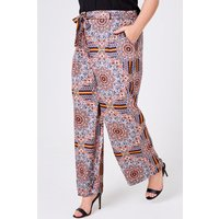 Manish Tile-Print Wide-Leg Trousers