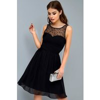 Outlet Little Mistress Black Prom Dress size: 8 UK, colour: Black