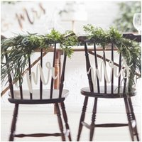Ginger Ray Botanics Wooden Mr & Mrs Chair Signs