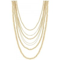 Gold Plated Gold   Multi-Row Necklace