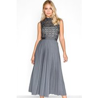 Alice Grey Pleat Midi