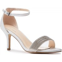 Hilma Wide Fit Silver Low Heel Barely There Sandals