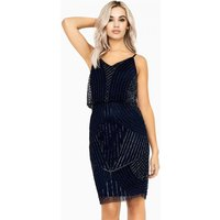 Little Mistress Alexis Beadwork Cami Midi Dress size: 14 UK, colour: N