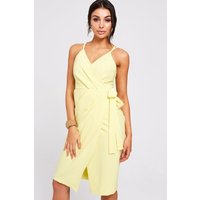 Paper Dolls Utah Lemon Wrap Dress size: 6 UK, colour: Lemon