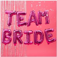 Ginger Ray Hot Pink Team Bride Balloon Bunting size: ONE SIZE, colour: