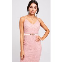 Paper Dolls Maine Blush Lace Dress size: 14 UK, colour: Blush