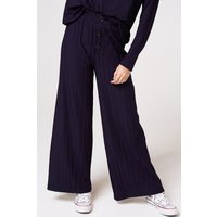 Image of Girls on Film Nimble Navy Rib Button Trousers Co-ord size: 16 UK, colo