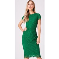 Girls on Film Shana Emerald Lace Bodycon Dress size: 8 UK, colour: Gre