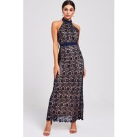 Paper Dolls Salem Navy Lace Halter Maxi Dress size: 12 UK, colour: Nav