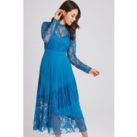 Little Mistress Reagan Lagoon Blue Lace Midaxi Dress size: 10 UK, colo