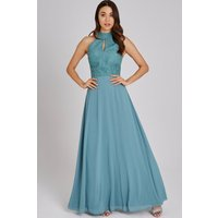 Little Mistress Ffion Fern Lace Maxi Dress size: 8 UK, colour: Fern