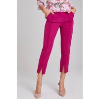 Paper Dolls Leman Magenta Crochet-Trim Cigarette Trousers size: 14 UK,