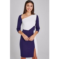 Paper Dolls Hurley Navy And White Colour Block Dress size: 16 UK, colo