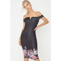 Girls on Film Black Bardot Dress size: 8 UK, colour: Black