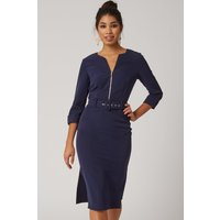 Paper Dolls Nomi Navy Self Belt Pencil Dress size: 16 UK, colour: Navy