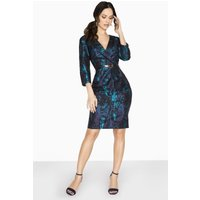 Paper Dolls Wentworth Tuxedo Pencil Dress In Jacquard size: 14 UK, col
