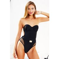 Candypants Underwired Bandeau Swimsuit in Black size: 10 UK, colour: B