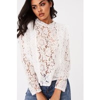 Girls on Film Merci White Lace Top size: 16 UK, colour: White