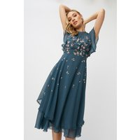 Little Mistress Ellarose Ditsy Floral Midi Dress size: 14 UK, colour: