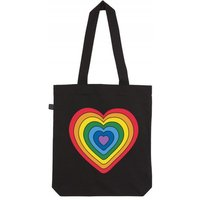 Kindred x Global's Make Some Noise Black Rainbow Tote Bag colour: