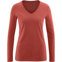 Living Crafts DORA− Langarm-Shirt aus reiner Bio-Baumwolle - red clay - XS