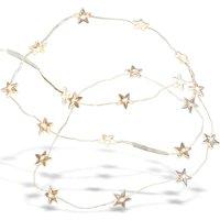 LOBERON Lichterkette Stars, silber (125cm)