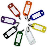 Coloured Key Tags with Label Window
