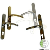 Fab & Fix uPVC Door Handles for Fullex Locks - 250mm (215mm fixings)