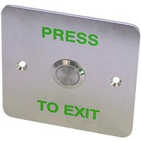 Asec EBSS02 Stainless Steel   1 Gang Exit Button