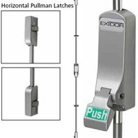 Exidor 307 Push Pad Single Panic Bolt with Horizontal Catches