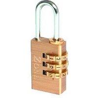 ZONE 24 Series Brass Open Shackle Combination Padlock By LocksOnline