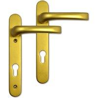 Mila Prolinea 92mm PZ uPVC Door Handles - 220mm (122mm fixings)