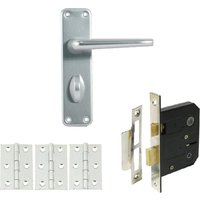 Contract Aluminium Bathroom Handle Set with Lock and Hinges