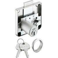Rim lock with extended cylinder, Ø 22 mm cylinder, 37 mm backset, keyed alike