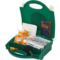 10 Person First Aid Kit in Green Carry Case