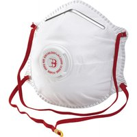 10x Disposable Dust Mask with Valve, for Fine-Dust, FFP2