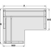 IDEA+ A desk frame set, for 800/800 mm corner desktop depth