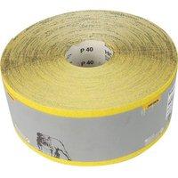 115 mm Abrasive Sanding Rolls, Yellow Aluminium Oxide - 50 Metres